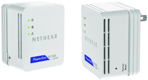 NETGEAR Powerline 500 Nano 1 GigE Port Starter Kit (XAVB5101) by NETGEAR