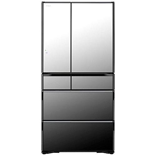 日立 735L 6ドア冷蔵庫(クリスタルミラー)R-WX7400G-X