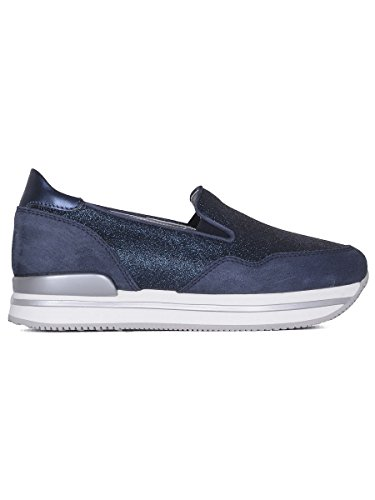HOGAN WOMEN'S HXW2220T671G4D0X05 BLUE LEATHER SLIP ON SNEAKERS