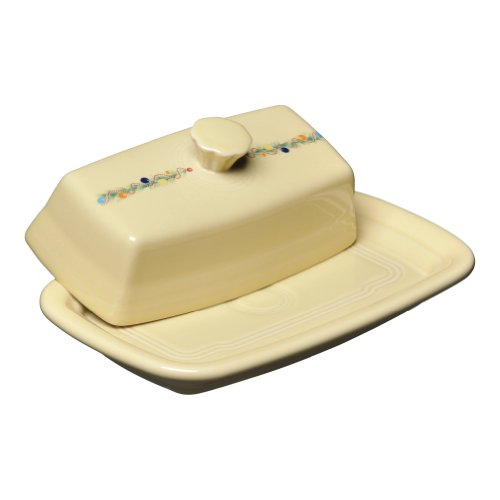 Fiesta Christmas Tree Covered Butter Dish, X-Large