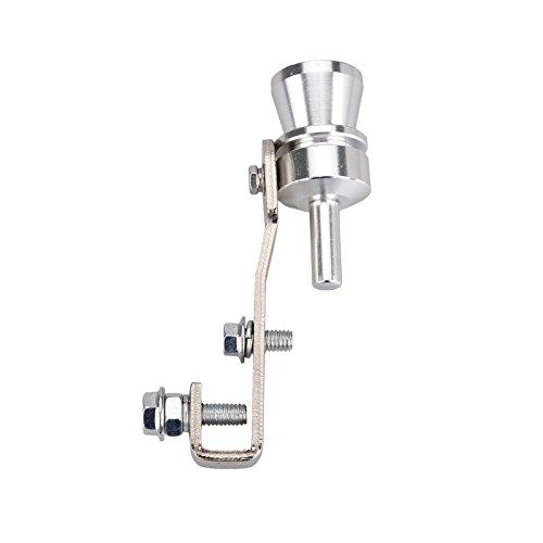 Dromedary Universal Color Chrome Size M Turbo Sound Noise Exhaust Muffler Pipe Whistle/Fake Blow off valve BOV Simulator Whistler