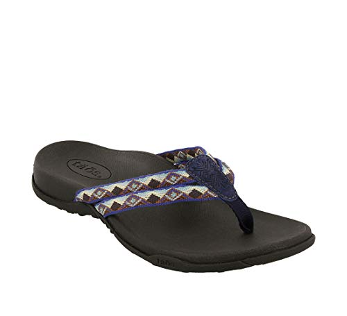 - Taos Footwear Women's Primo Navy/Blue Sandal 7 M US