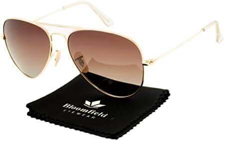 Bloomfield Premium Classic Aviator polarized sunglasses for men women 100% UV Protection BFA