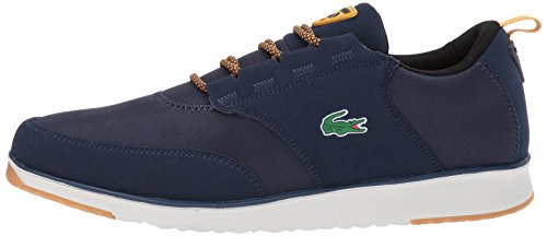 Lacoste Men's L.Ight 417 1 Sneaker, Navy/Yellow, 8.5 M US