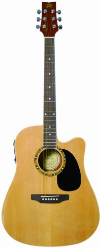 JB Player JBEA25N Acoustic Electric Guitar , Natural (Jb Player Acoustic Electric Guitar)