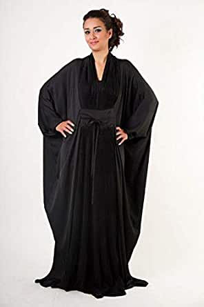 Royal Couture Black Farasha Abaya, Black [Rka-011 ]