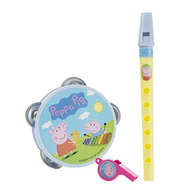 Peppa Pig - Mini Set de Musique - Flute + Sifflet + Tambourin