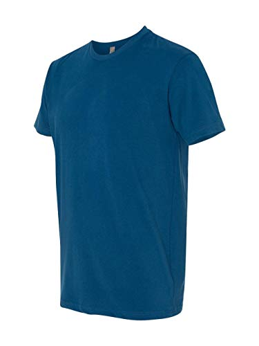 (Next Level Men's Premium Fitted Sueded Crew, Cool Blue,)