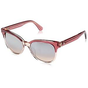 Kate Spade Women's Arlynn/s Square Sunglasses, Cherry Pink/Brown Mirror Gradient, 52 mm