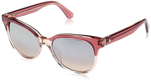 Kate Spade Women's Arlynn/s Square Sunglasses, Cherry Pink/Brown Mirror Gradient, 52 - Spade Sunglass Case Kate
