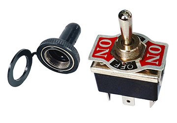(Heavy Duty Toggle Switch with Rubber Boot DPDT Center Off 20 Amp)
