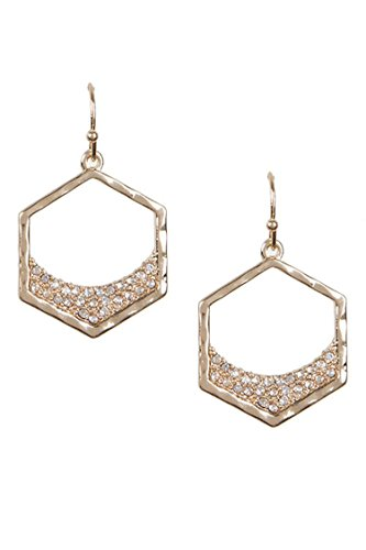 The Duchess Fox Costume (DIVA & DUCHESS SPARKLY PAVE ACCENT CUTOUT GEO DANGLE EARRING (Gold))