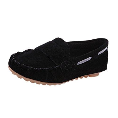 Ularma Zapatos de las mujeres, Resbalón en los zapatos planos confort negro