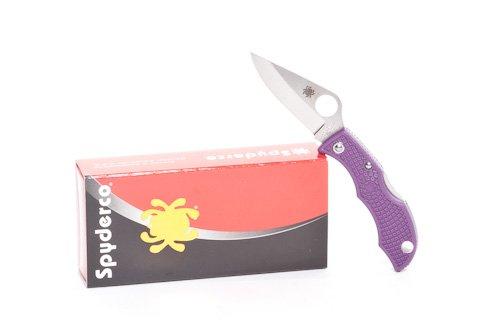 Spyderco Ladybug3 Purple FRN PlainEdge LPRP3 from Spyderco