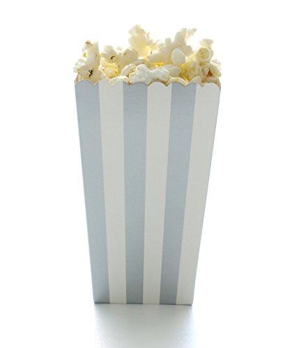 silver mini popcorn boxes - 9