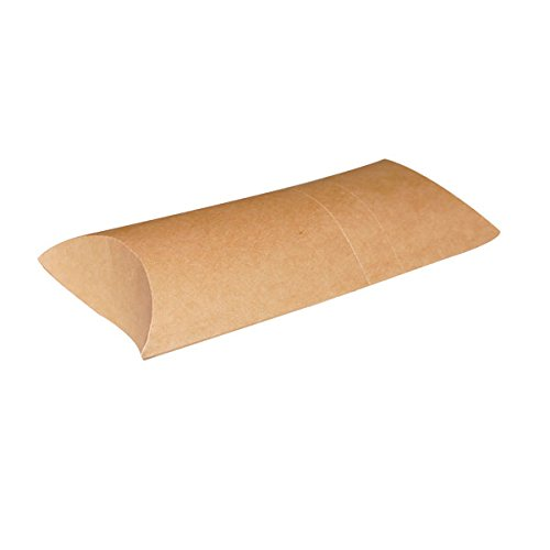 Kraft Brown Crepe Box Container (Case of 600), PacknWood - Paper Food Holder (9.8'' x 4.3'') 210CREPCAR