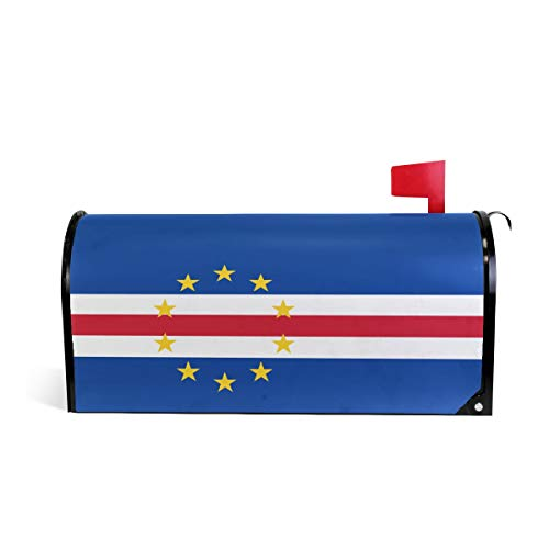 - Printedin3D Cape Verde Flag Magnetic Mailbox Cover for US Large Size