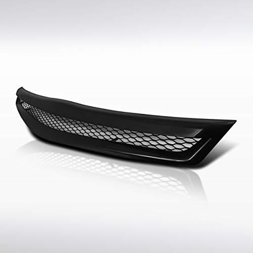 Autozensation For Honda Civic 2Dr Coupe Black T-R Front Bumper Metal Mesh Hood Grill (Black Lights 2dr Corner Jdm)