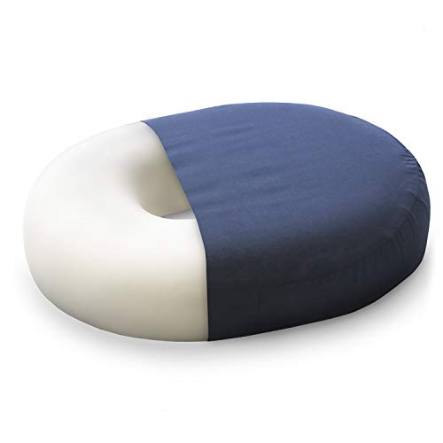 (DMI Donut Seat Cushion All-Day Comfort Pillow for Hemorrhoids, Prostate, Pregnancy, Post Natal Pain Relief, Surgery, 16 inch)