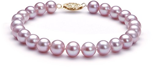 PearlsOnly - Lavender 7-8mm AA Quality Freshwater Cultured Pearl Set-16 in Chocker length by PearlsOnly (Image #2)