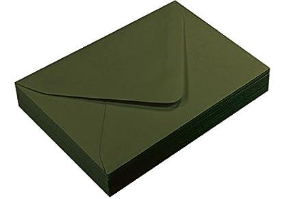 amazon com a7 forest green euro flap envelopes gmund colors matt