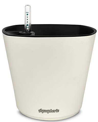 "Aquaphoric Self Watering Planter (7"") + Fiber Soil = Foolproof Indoor Garden. Decorative Planter Pot for House Plants, Flowers, Herbs, Violets, Succulents. Easy Looks Great."