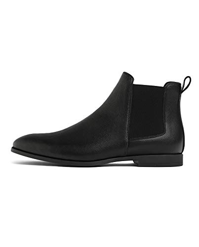 (Zara Men Black Embossed Ankle Boots 5014/002 (43 EU | 10 US | 9)