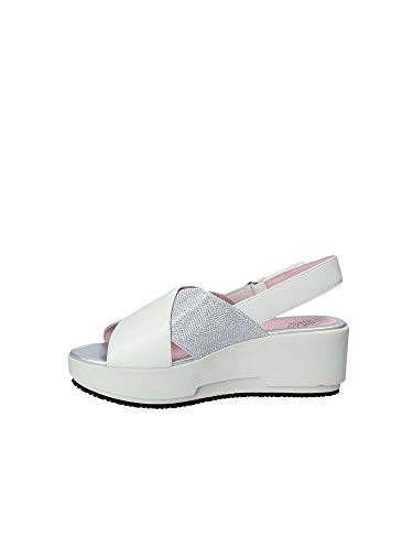 Wedge 110334 Sandals 39 Women Stonefly White fH5q54