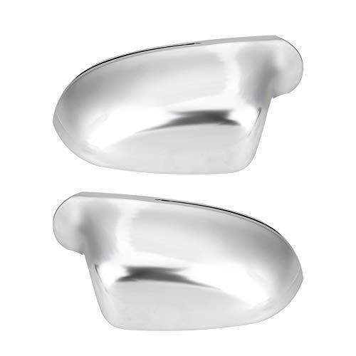 1 par de cubiertas para espejo retrovisor B8, tamaño A4, color plateado mate, chapado en cromo, para Audi B8 A4 A5 A6
