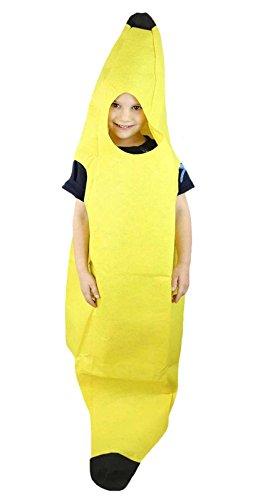 [Yellow Banana Fruit Costume Set Party Wear Unisex Children Clothing] (Fruit Costumes For Kids)