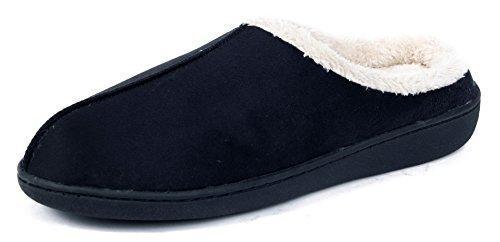 AgeeMi Shoes Femme Noir Flat Mixte Coton Chaussons Pantoufles q8qRFxArw
