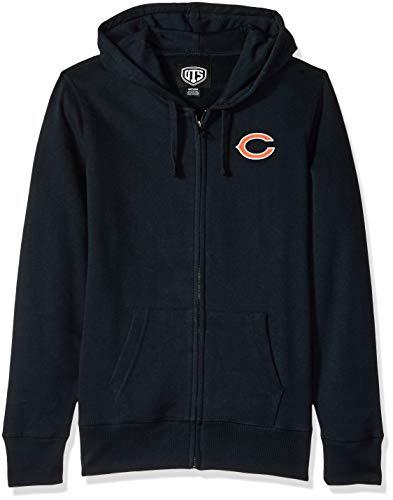 NFL Chicago Bears Female OTS Fleece Full-Zip Hoodie, Fall Navy, Medium (Nfl Chicago Bears Sweatshirt)
