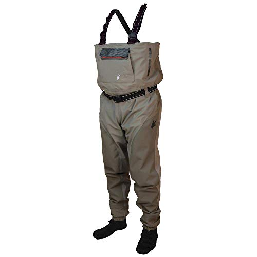 Frogg Toggs Anura II Breathable Stockingfoot Chest Wader, Beige/Khaki, Size Small