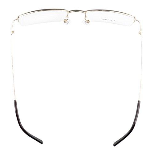 ... Demi-jante titane Lunettes optiques Monture de Eyekepper Hommes Doré d5b6df850213