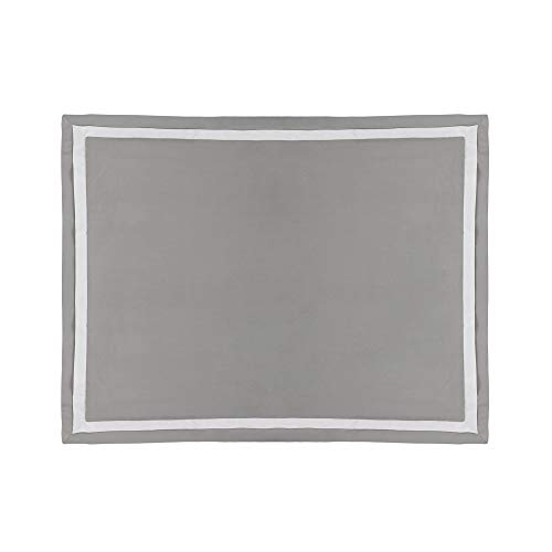 Martex 2000 Series Ultra-Soft Microbrushed Sham, King, Gray/White