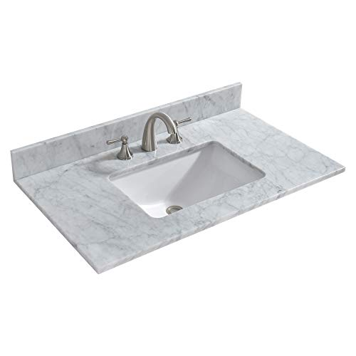 Bathroom Vanity Cabinet Marble - WOODBRIDGE 37