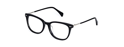 Angel Fire Sydney Square Browline Non-prescription Eyeglasses for Men & - Browline Prescription Glasses