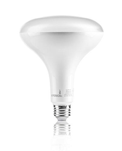 (Hyperikon BR40 LED Bulb, 15W (100W Equivalent), 1360lm, 5000K (Crystal White Glow), Dimmable, Flood Light Bulb, Medium Base (E26), UL & Energy Star - Great for Office, Security Lights)