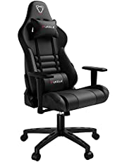 【New Update】 Furgle Gaming Chair Racing Style High-Back Office Chair with Adjustable Armrests PU Leather Executive Ergonomic Swivel Video Game Chairs with Headrest and Lumbar Support