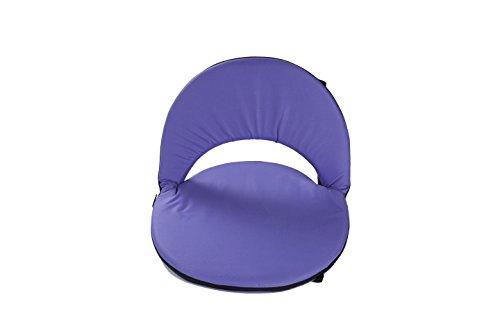(Trademark Innovations Portable Multiuse Adjustable Recliner Stadium Seat, Purple)