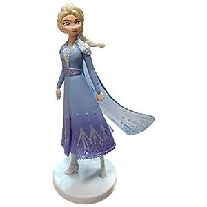 Disney Elsa Snow Queen in Blue Dress 4″ PVC Figure Figurine Loose Cake Topper