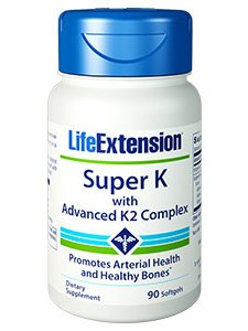 Life Extension SUPER K W/ ADVANCED K2 COMPLEX 90 SOFTGELS
