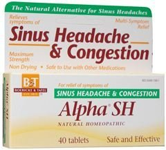 Boericke and Tafel Alpha SH Sinus Headache, 40 Count