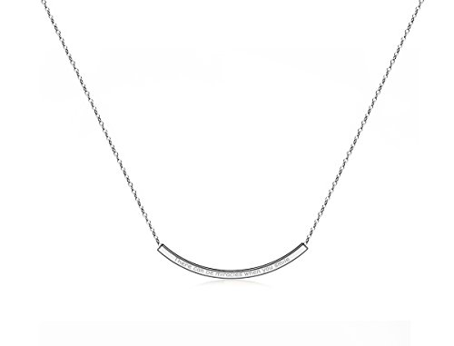 Bella.Vida Womens with Gift Choker and There will be miracles when you smile Curved Bar Smile Pendant+ 2