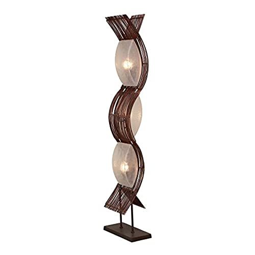Unusual floor lamps amazon aspire liam abstract floor lamp brown aloadofball Images