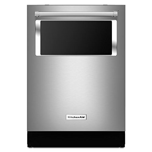 KitchenAid Built-in Dishwasher Stainless Steel 44 dBA, Window and Lighted Interior KDTM804ESS