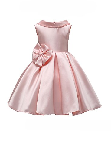 Toddler Girl Party Dress Halloween Holiday 3-4 T Little Ball Gown Backless Dresses For Girls Blush Pink Flower Girl Dress Lace Tea Length Holiday Special Occasion Gowns Under 20 (Pink 110) (Dresses Pink Ball Gown)