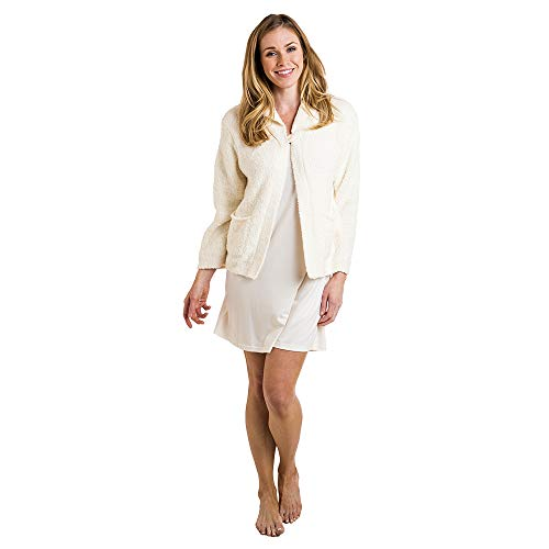 Softies Women's Marshmallow Bed Jacket (X-Large, Ivory)