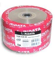 Ridata 52X 80-Min Silver Inkjet Hub/Silver CD-R's 50-Pack Shrinkwrap