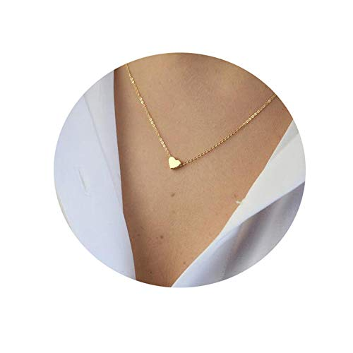 Befettly Tiny Heart Necklace, Women 14K Gold Pated Dainty Cute Pendant Necklace]()